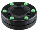 Green Biscuit Roller Hockey Puck